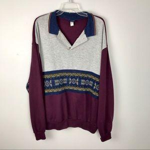 Boho Pullover Henley Top